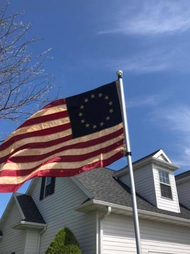 Tea-Stained Betsy Ross Flag 3x5 Foot photo review