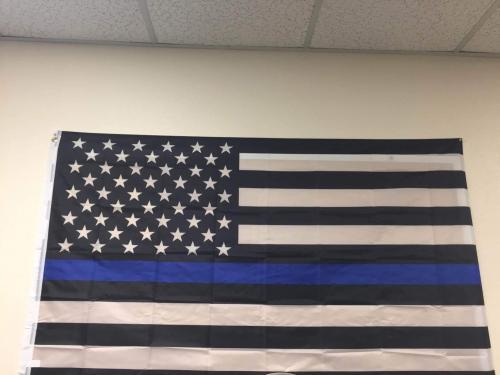 Fly Breeze Thin Blue Line USA Flag 3x5 foot photo review