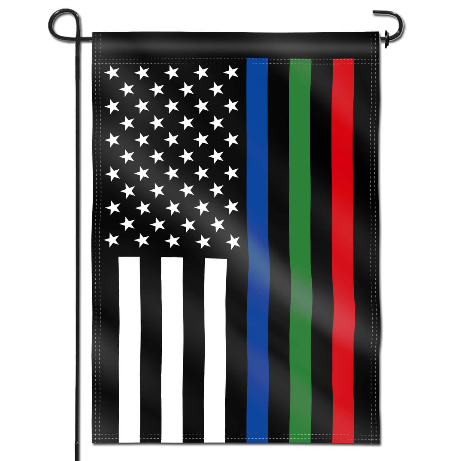 Thin Blue Green And Red Line Usa Garden Flag 18 X 12 5 Inch Anley Flags